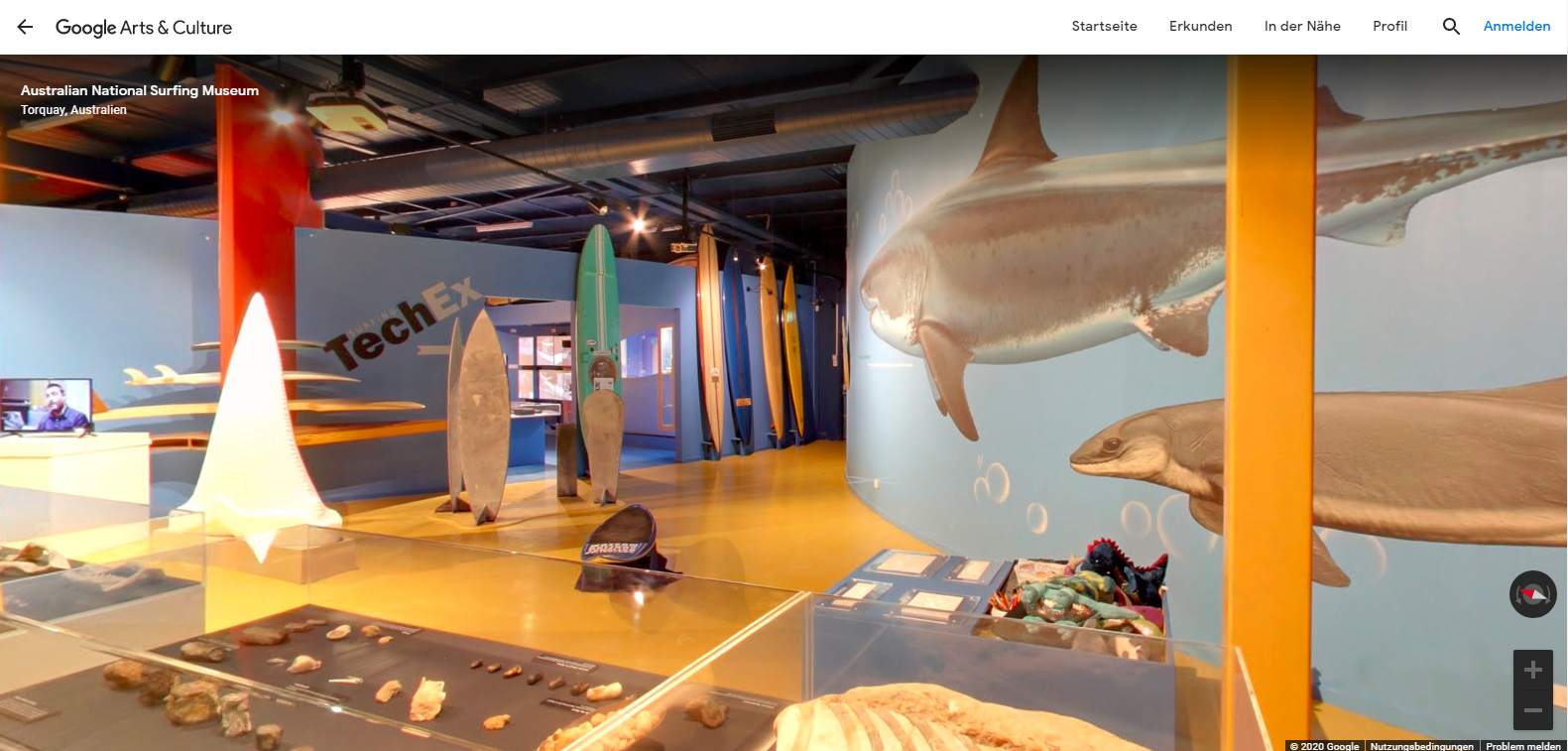 Google Arts and Culture - Surfmuseum Australien