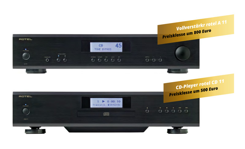 High End Audio - Rotel Modelle - Anlage 2750 Euro